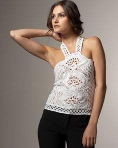 halter style crochet top