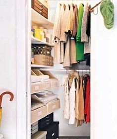 a well organized coat closet #organization