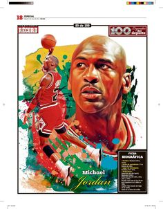 Michael Jordan 100 Leyendas del Deporte / 100 Sports Legends by Jesús R. Sánchez, via Behance