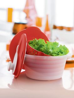 Need a healthy and delicious salad in seconds? Our Salad Spinner is up to the challenge! Now you can rinse, spin, serve and store - all in one!: