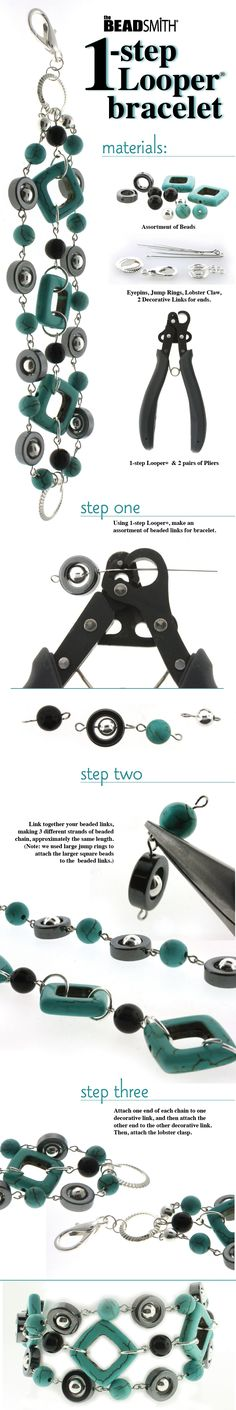 DIY One Step Looper Turquoise Bracelet Jewelry