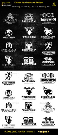Fitness Gym Labels & Logos,barbell, blackboard, body, boxing, building, chalkboard, crossfit, dumbbell, fitness, flyer, grunge, gym, hardcore, kettlebell, modern, personal trainer, print, professional, sport, training, weight, workout