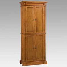 Home Styles Americana Solid Hardwood Cottage Oak Finish Pantry Cabinet - Pantry Cabinets at Hayneedle