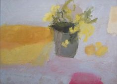 Alice Mumford, 'Mimosa', oil on card, 31.5 x 43.5cm
