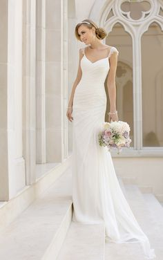 Wedding Dresses - Sheath Wedding Gown by Stella York - Style 6009