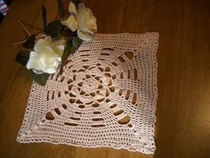 Crochet Galore: Square Doily - September Doily of The Month