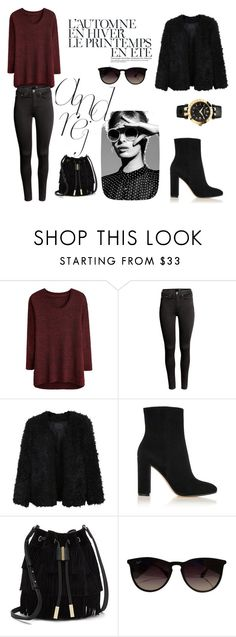 """""""#348"""" by sonya-beautiful on Polyvore featuring H&M, LE3NO, Gianvito Rossi, Vince Camuto, Été Swim, Ray-Ban and Versace"""