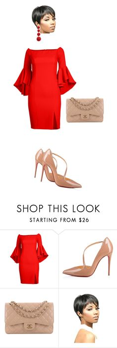 I love this look for a Date Night! Kenneth Jay Lane, Plus Size Dresses, Venus, Christian Louboutin, Chanel, Night, Polyvore, Stuff To Buy, Shopping