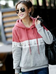 Women's Casual Sports Style Sweet Hoodie via martEnvy. Click on the image to see more!