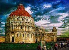 La ciudad de Pisa en Italia