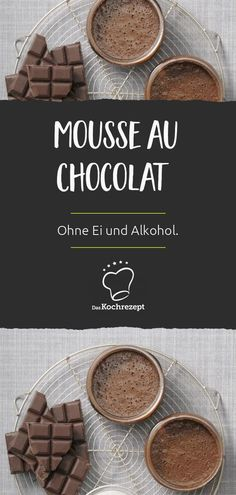 Mousse au Chocolat ohne Ei und Alkohol Only 4 ingredients, no egg and no alcohol - and this super de Chutney, Chocolat Recipe, Sauce Barbecue, Delicious Chocolate, Calories, Party Snacks, Christmas Desserts, 4 Ingredients, Bakery