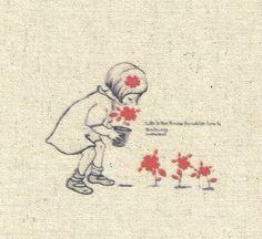 coupon tissu lin, image, patchwork ou scrapbooking romantique, beige, rouge