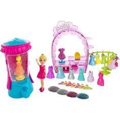 Conheça a espetacular Boneca Polly Pocket - Estúdio do Glitter da Mattel, um conjunto incrível que vai fazer a alegria das meninas.     Neste estúdio é possível criar modelos de roupas com muito brilho para deixar as bonecas ainda mais bonitas.     O conjunto inclui 15 roupas, 1 máquina de Glitter, 4 pacotes de brilho, uma linda boneca e acessórios.     Com o estúdio da Polly as meninas vão poder soltar a imaginação e usar toda a criatividade para criar as mais belas historinhas.