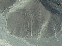 """The Astronaut"" - a large geoglyph near the Nazca Lines"
