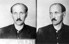 Franz Auer, combatiente del KPÖ, el partido comunista austríaco, como voluntario en la guerra civil española. La foto data de 1940 y fue tomada por la Gestapo en Viena (Austria).