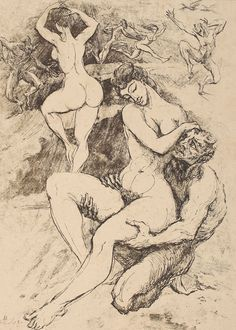 """""""Nymphs and Satyrs Art by Romanian artist Marcel Chirnoagă Satyr, Ex Libris, Woman Painting, Black Magic, Erotic Art, Occult, Beauty And The Beast, Graphic Illustration, Marcel"""