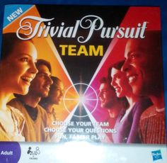 NEW TRIVIAL PURSUIT TEAM EDITION TRIVIA FAMILY BOARD GAME SEALED MINT IN BOX #Hasbro