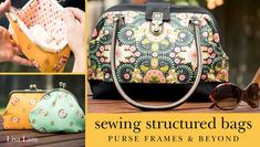 Easy-to-follow instructions for creating refined, durable bags using exterior and interior purse frames