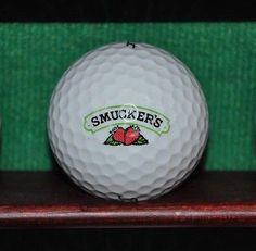 Smucker's Jam Ohio logo golf ball. Titleist.