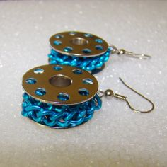 bobbin earrings but without the chain... Thinking make it into film!!