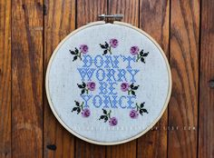 Don't worry Be Yonce Counted Cross stitch pattern embroidery pattern needlepoint pattern DIY crafts