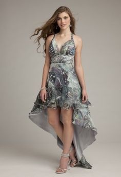Prom Dresses 2013 - Print High-Low Prom Dress from Camille La Vie and Group USA