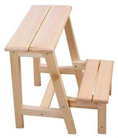 De madera pequeña escalera& pequeño taburete de madera ...                                                                                                                                                                                 Más