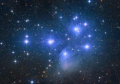 The Pleiades Star Cluster imaged from my backyard [OC] - Whirlpool Galaxy-Andromeda Galaxy-Black Holes Helix Nebula, Orion Nebula, Andromeda Galaxy, Galaxy Drawings, The Pleiades, Carina Nebula, Hubble Images, Star Formation, Whirlpool Galaxy