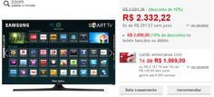 "Smart TV LED 48"" Samsung UN48J5300 Full HD com Conversor Digital 2 HDMI 2 USB Wi-Fi 120Hz << R$ 209900 >>"
