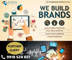 Want to build your brand digitally? helps you to connects to your customers. Contact :- 9839 080 9918 524 651 Visit for. Content Marketing, Social Media Marketing, Digital Marketing, Best Seo Company, Search Engine Marketing, Responsive Web Design, Kaizen, Build Your Brand, Search Engine Optimization