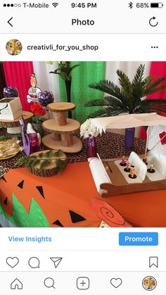 CreativLi For You Events's Birthday / Flintstones Pebbles Birthday - Photo Gallery at Catch My Party Baby Birthday Themes, 1 Year Old Birthday Party, Twin Birthday Parties, Girl 2nd Birthday, 1st Birthday Photos, Fourth Birthday, Pebbles Flintstone, Peach Baby Shower, Party Ideas
