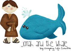 Jonah and the Big Whale Bible Lesson +Easy Craft!