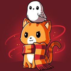Harry Potter Cat, Harry Potter Artwork, Harry Potter Drawings, Harry Potter Wallpaper, Cute Animal Drawings, Kawaii Drawings, Anime Animals, Cute Animals, Cute Animal Quotes