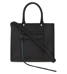 Rebecca Minkoff Mini Crosshatch Leather Tote In Black Fashion Handbags, Tote Handbags, Tote Bags, Tote Purse, Leather Purses, Leather Handbags, Rebecca Minkoff, Mini, Black Leather