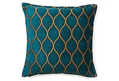 Opulence 16x16 Pillow, Teal -- they have this fabric at calico corners.. where i got my couch.. it's BEAUTIFUL