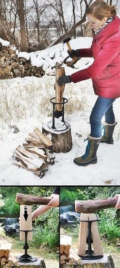 A Safer, Faster, And Easier Way to Make the Best Kindling for Your Fire!