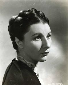 Judith Anderson great character actress as the head house maid, Mrs. Danvers, in Alfred Hitchcock's Rebecca.
