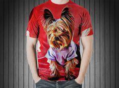 T-Shirt - Dog pet yorkshire terrier