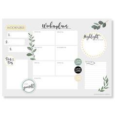 Wochenplaner Block A3 (25 Blatt) - Schreibtischunterlage mit To Do Liste - Wochen Planer aus Papier als Schreibtisch Unterlage - Weekly Planner Undatiert - Schreibunterlage mit Wochenplan - Love: Amazon.de: Bürobedarf & Schreibwaren
