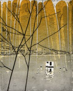 Katherine Jones, The Mountain, 2010. Etching and block-print on paper. 20 x 24 cm. http://www.katherine-jones.co.uk