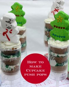 How to make cupcake push pops for Christmas from Confessions of an over-worked mom