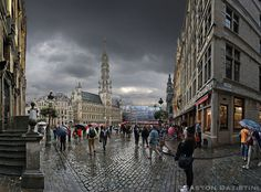 Just after the rain, Great market, Brussels, Belgium | Flickr : partage de photos !