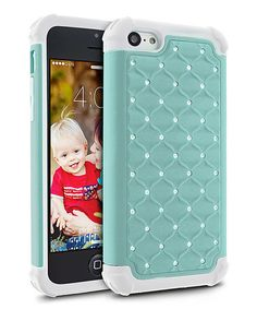 Blue & White Hybrid Ripple Case for iPhone 5c