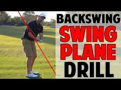 PERFECT BACKSWING PLANE DRILL - YouTube