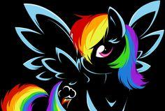 Rainbow Dash Outline