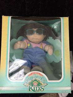 Cabbage Patch Kids VTG Girl Sunglasses In Box Coleco 1987 No Papers #CabbagePatchKids