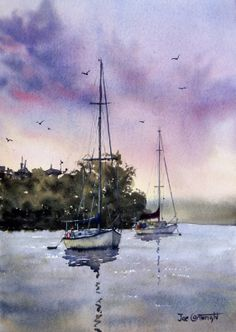 Joe Cartwright -  The above painting is of Shoal Bay at Port Stephens, New South Wales, Australia.   Link to video tutorial.  :)