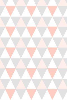 Papier peint triangle rose d co chambre enfant spoonflower babayaga magazine pattern - Papier peint enfant vintage ...