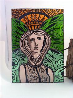 Traditional glass painting... Carole Robinson Printmaking, Glass Art, Traditional, Painting, Jar Art, Painting Art, Printing, Paintings, Graphics