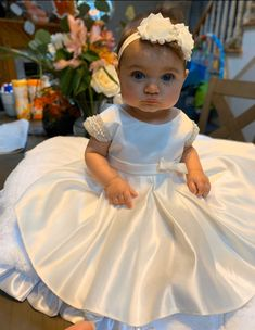 Vintage Christening Dress Baby Girl Baptism Dress White | Etsy White Christening Dress, Girls Baptism Dress, Baby Girl Baptism, Baptism Outfit, Christening Gowns, Baby Girl Christening Outfit, Baby Girl White Dress, Baby Girl Bows, Baby Girl Dresses
